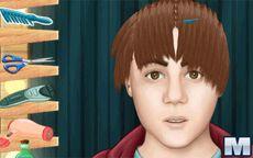 Juegos de cortar el pelo justin bieber